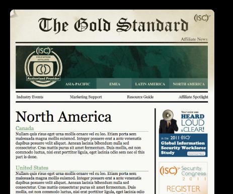 THE GOLD STANDARD newsletter