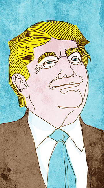 DONALD TRUMP ILLUSTRATION by Richard Smotherman