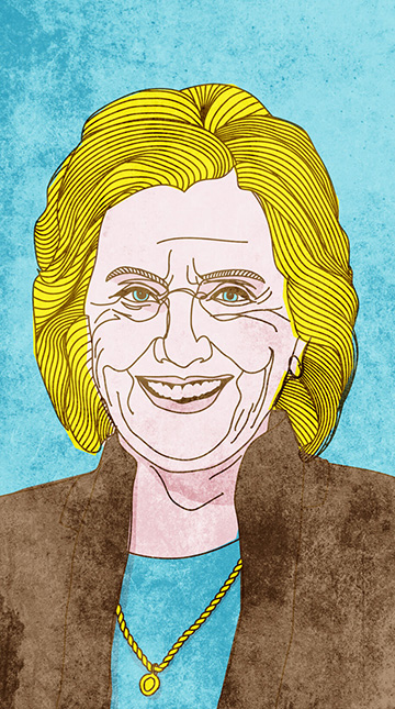 Hillary Clinton Illustration by Richard Smotherman