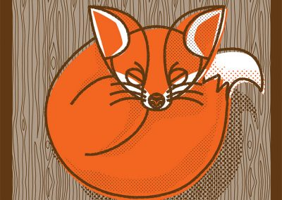 fox illustration done by Richard Smotherman, the Prime Minister of Graphic Design