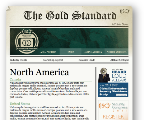 THE GOLD STANDARD newsletter
