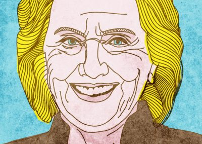 Hillary Clinton Illustration by Richard Smotherman, the Prime Minister of Graphic Design